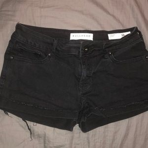 Bullhead Denim Low Rise Black Denim Shorts 3